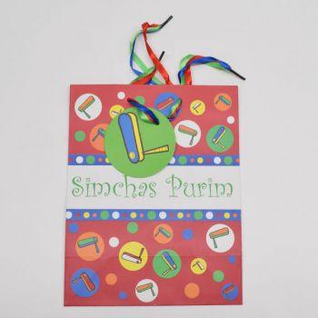 1 x Red Medium Purim Paper Gift Bag