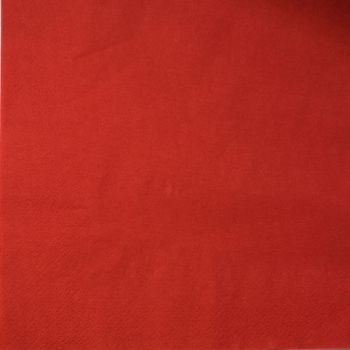 2000 x Red Paper Tea Napkins Serviettes - 33cm/2ply