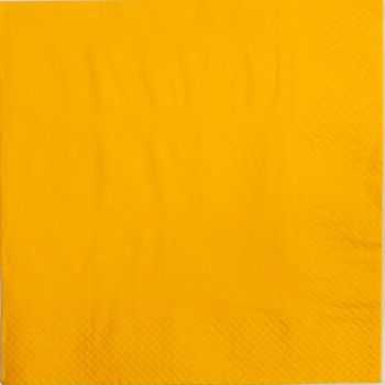 2000 x Yellow Paper Tea Napkins Serviettes - 33cm/2ply