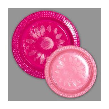 720 x Bicolor Plastic  Plates - Fuchsia/Pink