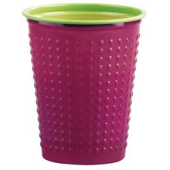 1200 x Bi-color 7oz Cups - Violet/Green