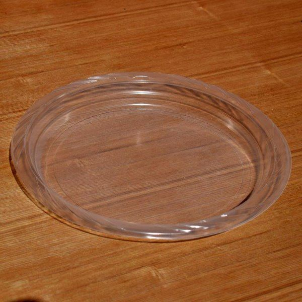 & 50 x 10 inch Clear Disposable Plastic Dinner Plates