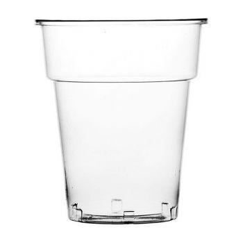 500 x Clear Plastic Disposable Half Pint Glasses