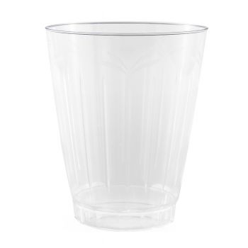 Clear Strong Plastic Floral Design Tumblers 10oz – Case of 480