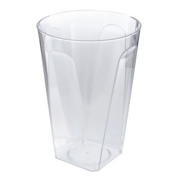 Mashers 10oz Disposable Square Clear Hard Plastic Glasses/Party Tumblers - Case of 480