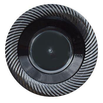 Mashers 6oz Black Plastic Swirl Design Disposable Starter/Dessert Bowls Case of 120