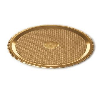 Mashers Medoro 32cm Gold Disposable Plastic Serving Tray Platters – Case of 75