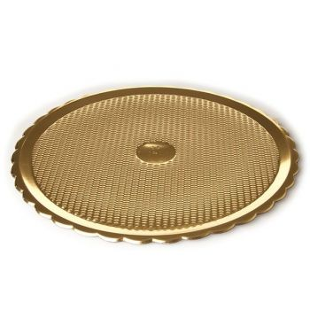 Mashers Medoro 36cm Gold Disposable Plastic Serving Tray Platters – Case of 60
