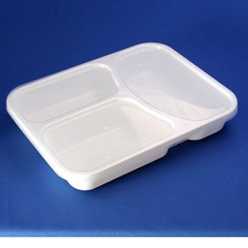 Masher's 300 x 3 Compartment Containers With Lids