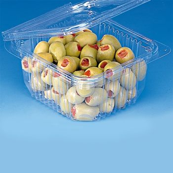 Mashers Optipack 250ml Rectangular Disposable Plastic Salad Containers with Lids, Case of 600