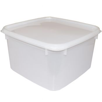 60 x Square Plastic Food Storage Container With lid, 3 Litre