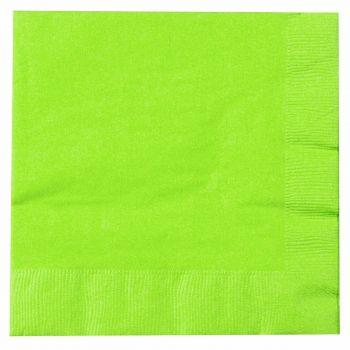 2000 x Lime Green Paper Tea Napkins Serviettes - 33cm/2ply