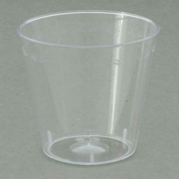 Mashers Disposable 1oz Clear Plastic Party Shot Glasses/Whisky Cups – Case of 2500