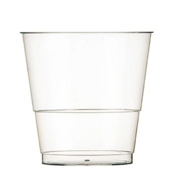 Mashers Disposable 8oz Clear Hard Plastic Disposable Party Drinks Tumblers – Case of 800