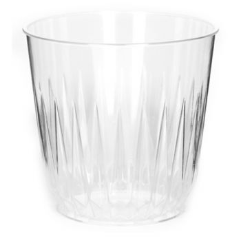Mashers 8oz Disposable Clear Plastic Crystal Effect Drinks Tumblers – Case of 700