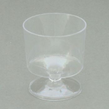 Mashers 2oz Disposable Clear Plastic Stemmed Wine/Shot/Dessert Taster Glasses – Case of 360