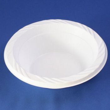 Mashers 12oz Disposable White Plastic Soup Snack Serving Bowls Case of 800