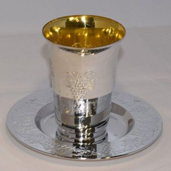 Mashers Disposable Plastic Silver Kiddush Wine Cups – Case of 144