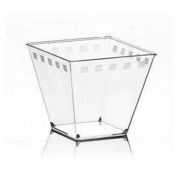 Mashers Era 120ml Miniature Square Disposable Plastic Dessert Cups Party Bowls – Case of 500