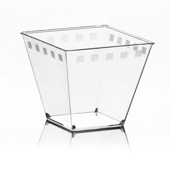 Mashers Era 150ml Clear Plastic Square Dessert Serving Cups – Case of 400