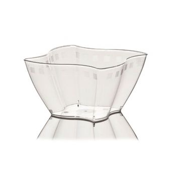 Mashers Elika 60ml Clear Disposable Plastic Square Party Dessert Cups – Case of 600