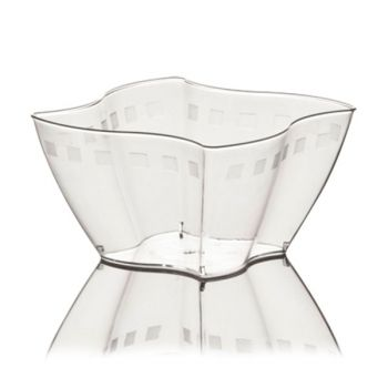 Mashers Elika 100ml Clear Disposable Plastic Square Party Dessert Cups – Case of 300