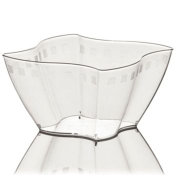 Mashers Elika 150ml Square Clear Disposable Plastic Party Dessert Cups – Case of 300
