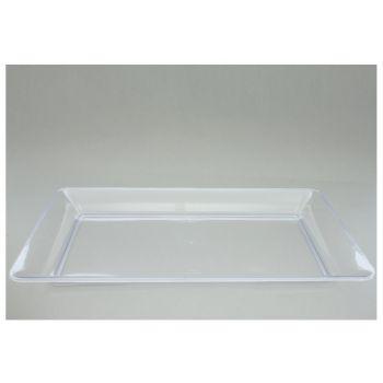 25 x 10'' x 8'' Rectangular Plastic Platter - Clear