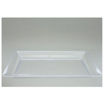 20 x 12'' x 18'' Rectangular Plastic Platter - Clear