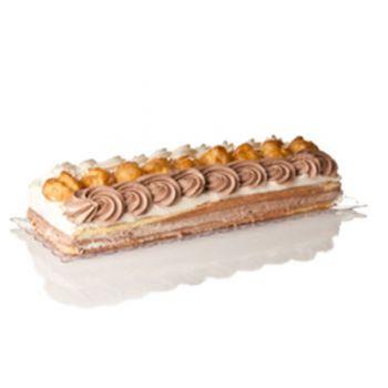 Mashers Stella 15x30cm Clear Plastic Disposable Rectangular Cake/Dessert Trays – Case of 132