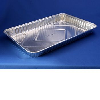 100 x Quarter Sheet Cake Aluminum Foil Food Container (309)
