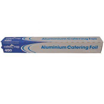 6x Aluminium Kitchen Tin Foil Roll 45cm x 75mtr - Cutter Box