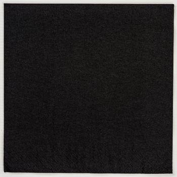 2000 x Black Paper Dinner Napkins Serviettes - 40cm/2ply