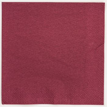 125 x Bordeaux Paper Dinner Napkins Serviettes - 40cm/2ply