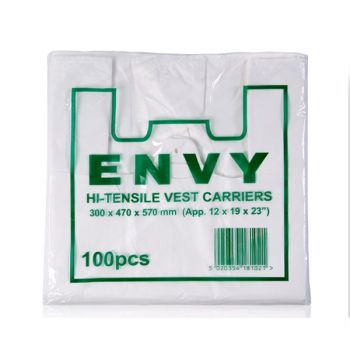 1000 x Vest Carriers (Envy) - Large - White