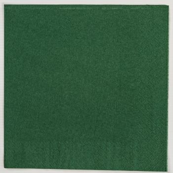 2000 x Dark Green Paper Tea Napkins Serviettes - 33cm/2ply