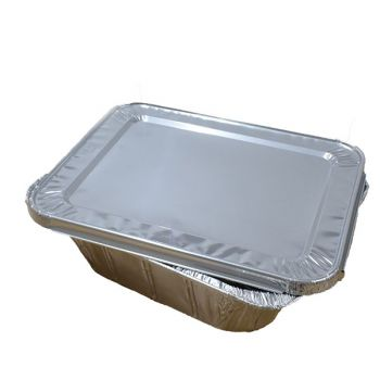 100 x Lid for Half Size Aluminium Foil Roasting Tray (2049)