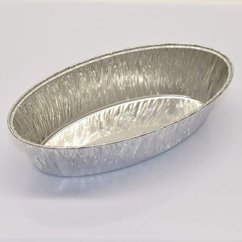 600 x Small Oval Aluminum Tin Foil Food Container