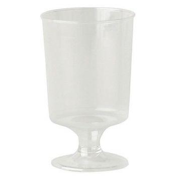1000 x Clear Plastic Disposable Stemmed Liquer Glass - 4cl