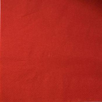 2000 x Red Paper Tea Napkins Serviettes - 33cm/2ply
