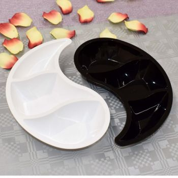 Mashers Yin Yang 2-Piece Disposable Plastic Condiment Serving Trays – Case of 20