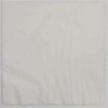 1000 x White Paper Dinner Napkins 40cm/3ply