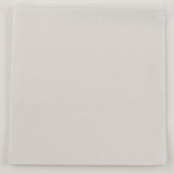 2000 x White Paper Tea Napkins Serviettes - 33cm/2ply