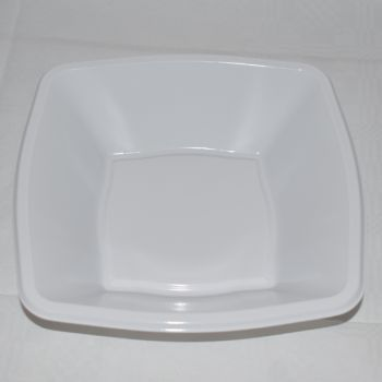 "Mashers 7"" White Plastic Square Disposable Party Soup/Salad/Dessert/Snack Bowls – Case of 240"
