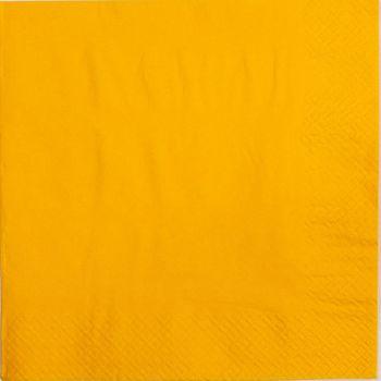 2000 x Yellow Paper Tea Napkins Serviettes - 33cm/2ply