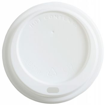 White Sip-Thru Lid to fit 12oz Cups, Case of 1000