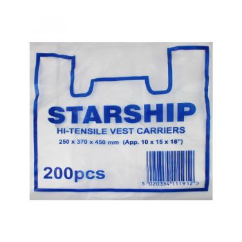 2000 x Vest Carriers (Starship) - Small - White